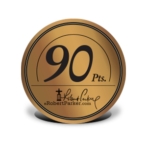 Riconoscimento ROBERT PARKER - THE WINE ADVOCATE - 90-POINTS